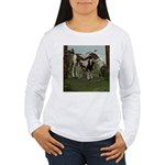 Painted Horse and Foal Women's Long Sleeve T-Shirt