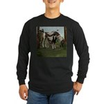 Painted Horse and Foal Long Sleeve Dark T-Shirt