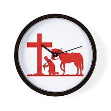 COWBOY PRAYER Wall Clock