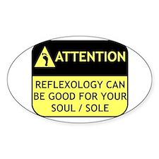 Reflexology Oval Decal