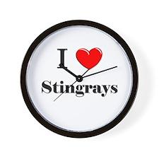I Love Stingrays Wall Clock