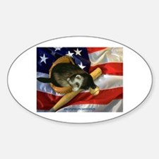 Ferret Baseball Oval Decal