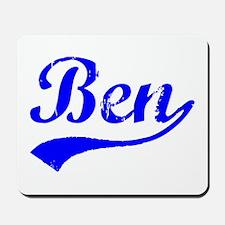 Vintage Ben (Blue) Mousepad
