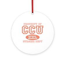 Property Of CCU Nurse Ornament (Round)