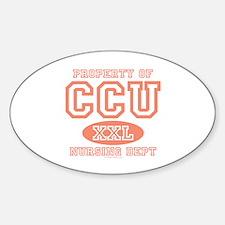 Property Of CCU Nurse Oval Decal