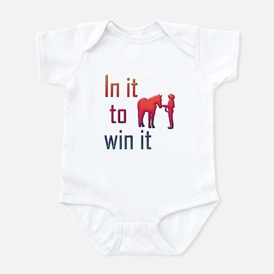 In it to win it - halter Infant Bodysuit