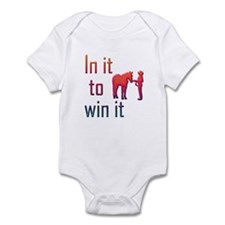 In it to win it - halter Onesie