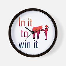 In it to win it - halter Wall Clock