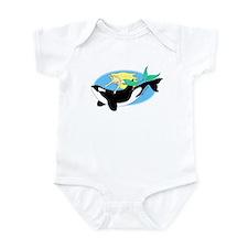 Mermaid and Orca Infant Bodysuit