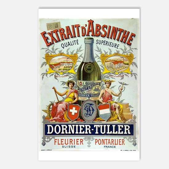 Absinthe Dornier-Tuller Postcards (Package of 8)