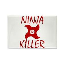 Ninja Killer Rectangle Magnet