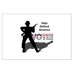 Defend America. Vote! Posters