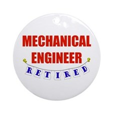 Retired Mechanical Engineer Ornament (Round)