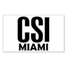CSI Miami Rectangle Decal