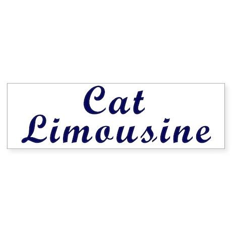 Cat Limousine Bumper Sticker