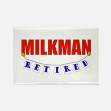 Retired Milkman Rectangle Magnet