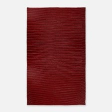 Red Lizard Skin Area Rug