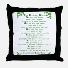 The Parting Glass Throw Pillow