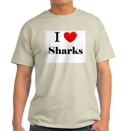 I Love Sharks Light T-Shirt