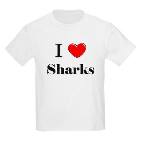 I Love Sharks Kids Light T-Shirt