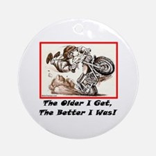 """""""I used to be good!"""" Ornament (Round)"""