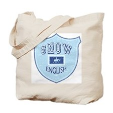 English Show Blue Tote Bag
