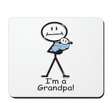 New Grandpa Baby Boy Mousepad