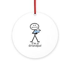 New Grandpa Baby Boy Ornament (Round)