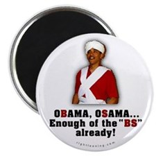 "Obama Osama Cut the BS 2.25"" Magnet (10 pack)"