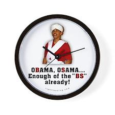 Obama Osama Cut the BS Wall Clock