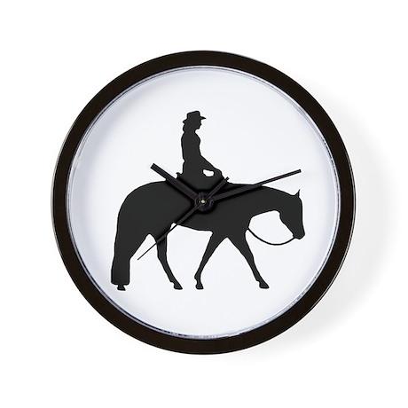 Western silhouette female Wall Clock