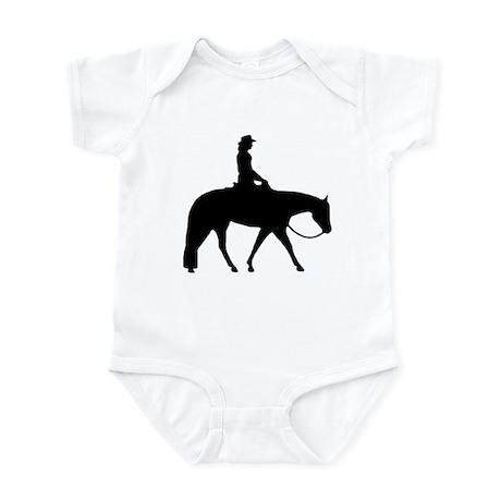 Western silhouette female Infant Bodysuit