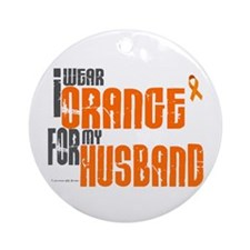 I Wear Orange For My Husband 6 Ornament (Round)