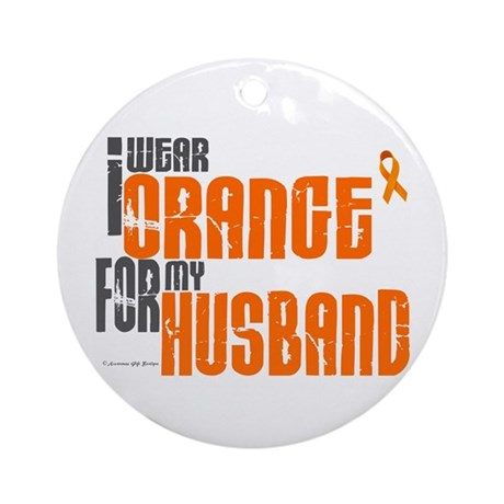 I Wear Orange For My Husband 6 Ornament (Round)