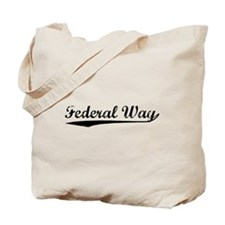 Vintage Federal Way (Black) Tote Bag