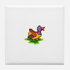 Colorful Duck Tile Coaster