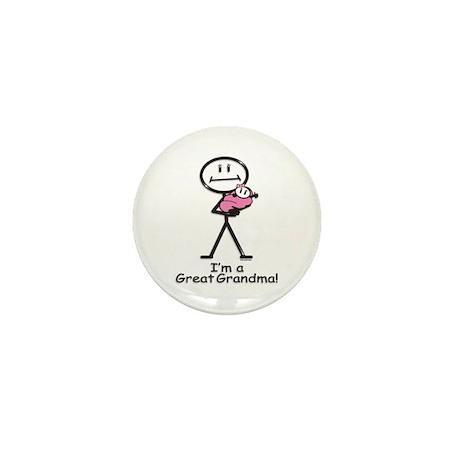 Great Grandma Baby Girl Mini Button (100 pack)
