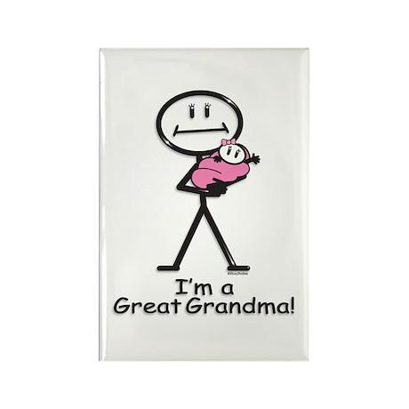 Great Grandma Baby Girl Rectangle Magnet (10 pack)