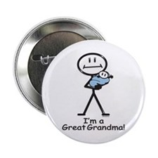 "Great Grandma Baby Boy 2.25"" Button (10 pack)"