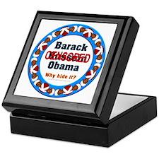 Obama Censored Keepsake Box