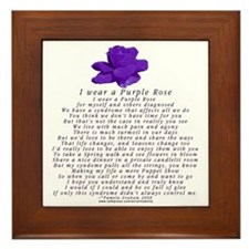 I Wear a Purple Rose Framed Tile