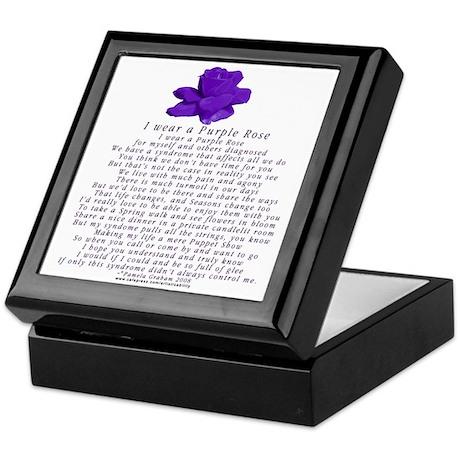 I Wear a Purple Rose Keepsake Box