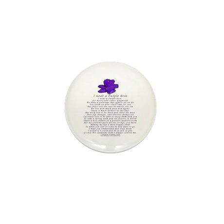 I Wear a Purple Rose Mini Button