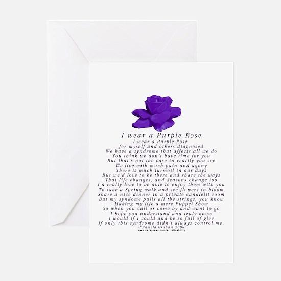 I Wear a Purple Rose Greeting Card