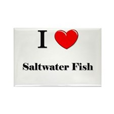 I Love Saltwater Fish Rectangle Magnet