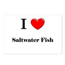I Love Saltwater Fish Postcards (Package of 8)