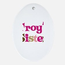 Troy's Sister Oval Ornament