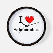 I Love Salamanders Wall Clock