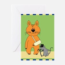 Get Well Cat Greeting Cards (Pk of 20)