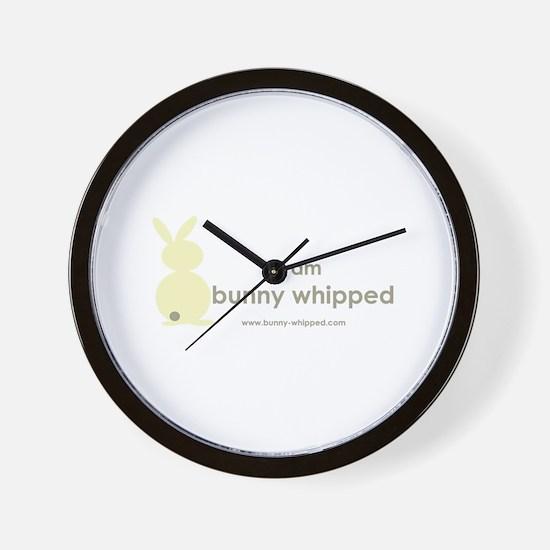 I am bunny whipped Wall Clock